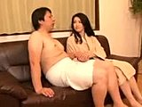 Not daughter, Mommy, Old and young, Mature, Small tits, Blowjob, Asian, Husband, Japanese, Tits, Fingering, Masturbation, Mother-in-law