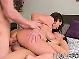 Food, Group, High definition, 3 some, Horny, Big tits, Boobs, Tits, Milf, Blowjob, Brunette
