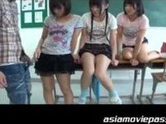 Irresistible schoolgirls receive the hard boners