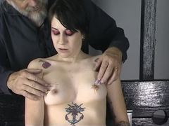 Sex, Teen, Toys, Tattoo, Young, Torture, Needle, Tits, Brunette, Bdsm