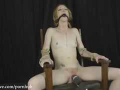 Fuckable cuties get tied up and penetrated rough