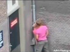 Sex, Hidden, Hidden cam, Street, Doggystyle, Extreme, Amateurs, Outdoor, Public, Bent over, Voyeur, Blonde