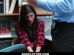 Cumshot, Group, Caught, Teen, Police, Office, Small tits, 3 some, At work, Shop, Blackmailed, Cock, Brunette, Burglar