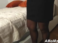 Aged, Doggystyle, Old woman, Boobs, Mature, Stockings, Lick, Redhead, Old, Fucking, Cock, Tits, Ass, Big tits