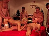 Orgy, Teen, Swallow, Young, Fucking, Christmas, Hardcore, Blowjob, Old and young, Group, Sex, Banging, Jizz, Pussy, Facial, Old, Gangbang, Blonde, Cum, Cumshot, Grandfather
