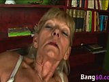 Grandmother, Monster cock, Granny, Big cock, Young, Old, Riding, Cock, Pussy, Blonde, Hairy